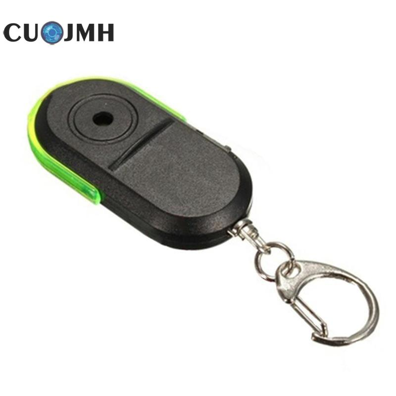 1 Pcs Voice Key Finder Wireless 10m Anti-lost Alarm 3 Colors Led Light Locator Keychain Whistle Sound Alarm Key Finder fashion design 2 in 1 alarm remote wireless key finder seeker locator find lost key 2 receiver anti lost alarm