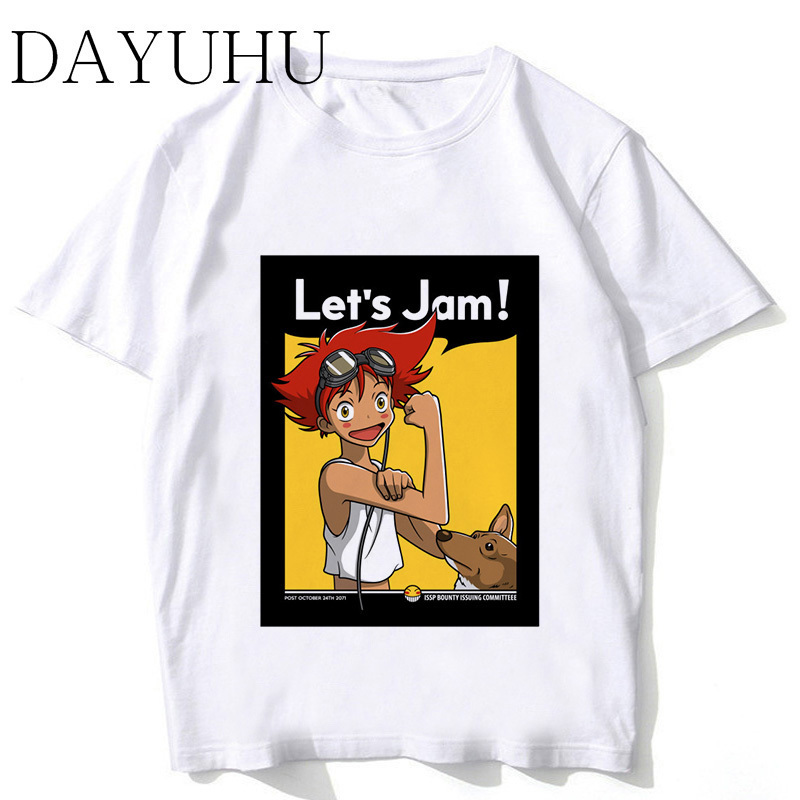fd765972520c Cowboy Bebop T-Shirt men 2018 Summer top fashion Tshirt casual white print T  shirt