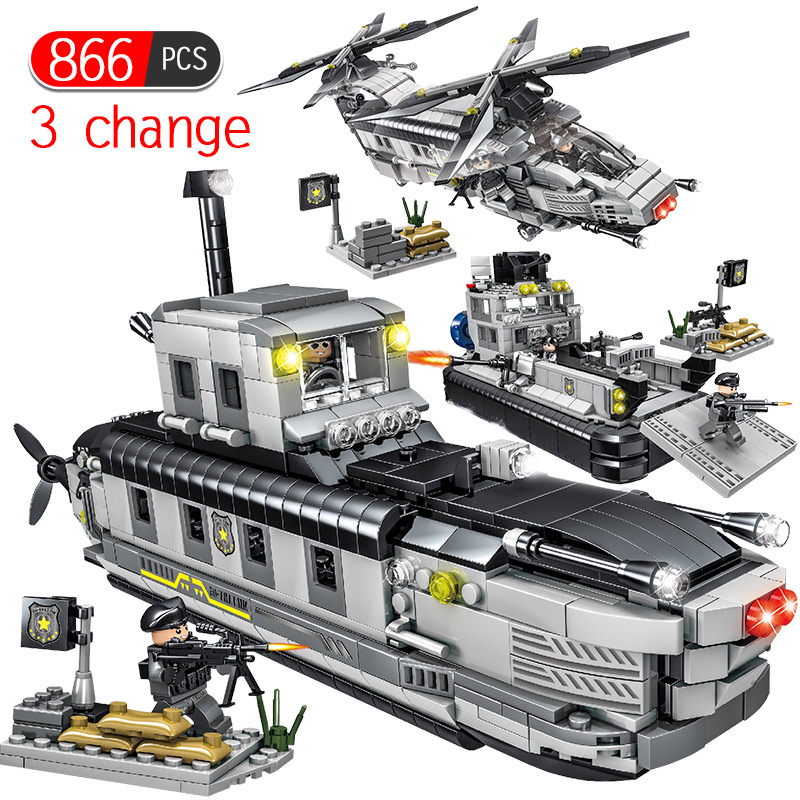 866pcs Swat Army Transport Aircraft Building Blocks Compatible Legoing City Police Figures Weapon Educational Toys for Children866pcs Swat Army Transport Aircraft Building Blocks Compatible Legoing City Police Figures Weapon Educational Toys for Children