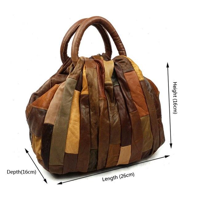 JOYIR  Women bag Patchwork Luxury Handbags Vintage Women Genuine Leather Handbags Tote Bag Clutch Bolsa Feminina Bao bao 9417