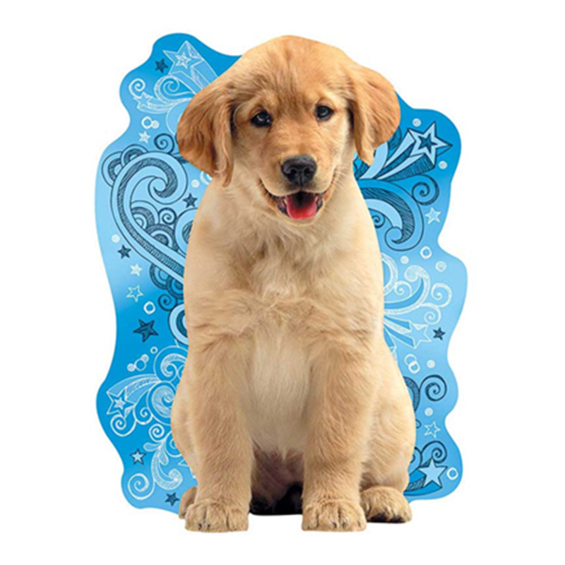 Diamond Cross Stitch Full Round Diamond Embroidered Stupid Dog Mosaic Sticker in Diamond Painting Cross Stitch from Home Garden