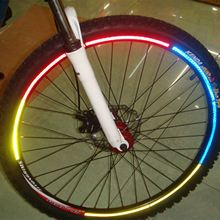 Велосипедный отражатель флуоресцентный MTB велосипед велосипедный обод колеса светоотражающие наклейки Наклейка аксессуары