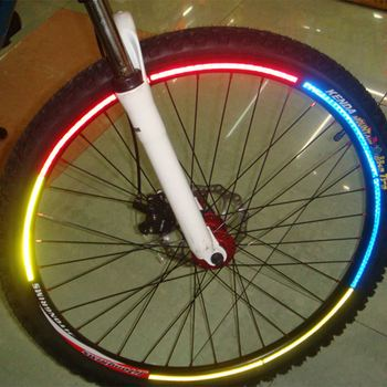 Bicycle reflector Fluorescent MTB Bike  Cycling Wheel Rim Reflective Stickers Decal Accessories