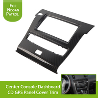 for Nissan Patrol Y62 2017 Accessories Car DIY Interior Decoration Moulding Center Console Dashboard CD GPS Panel Cover Trim