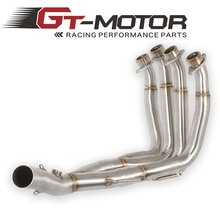 GT Motor – 51MM New Middle pipe full System For YAMAHA YZF-R6 R6 2008-17 Motorcycle Modified Muffler Pipe Front Header Pipe Tube