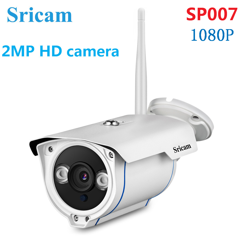 Sricam SP007 1080P HD IP Camera IR Night Vision Motion Detection 128G Card 2MP Outdoor Security Camera CCTV Surveillance Camera
