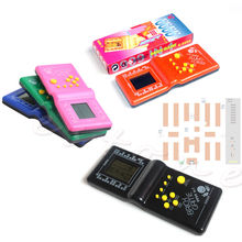 1PC Classic Tetris Hand Held LCD Electronic Game Toys Funny Brick Riddle Handheld Console Random Color