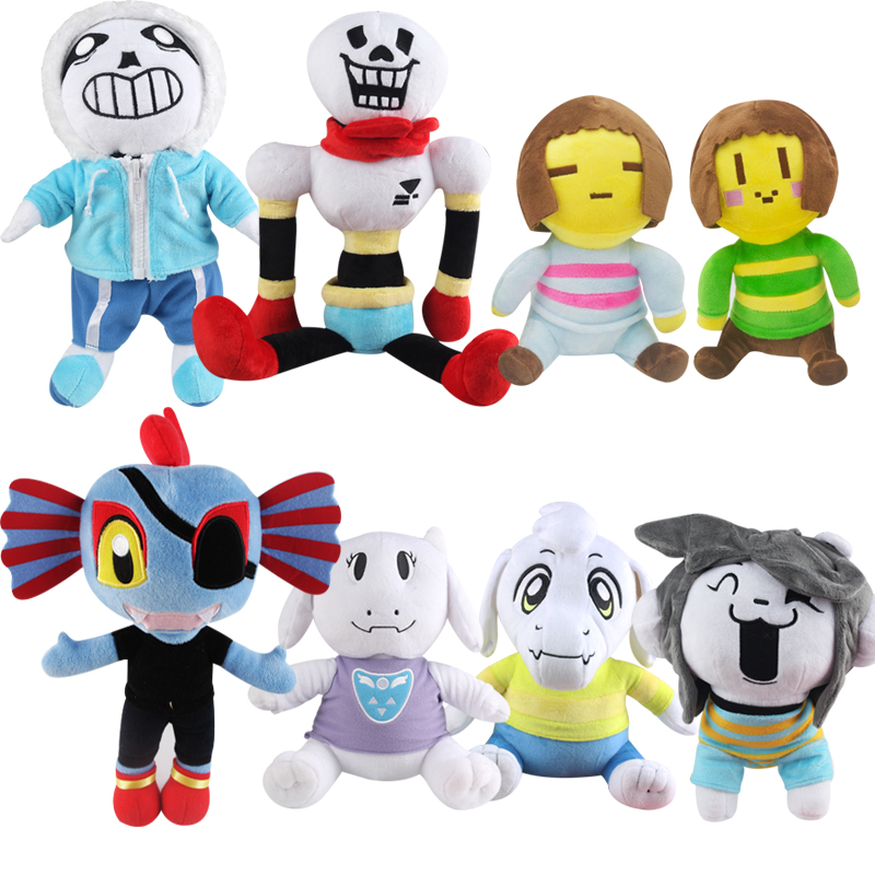 1pcs Undertale Plush Toy 20-35cm Undertale Sans Papyrus Frisk Chara Temmie Undyne Plush Stuffed Toys Doll Gift for Children Kids 1pcs 30cm undertale sans plush doll toy cute anime undertale white sans plush toys soft stuffed toys for children kids gifts