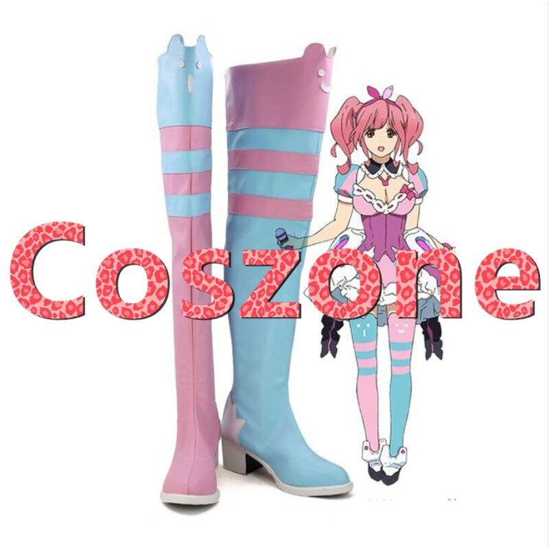 Affidabile Macross Delta Makina Nakajima Cosplay Scarpe Stivali Cosplay Halloween Costume Accessori Ineguale Nelle Prestazioni
