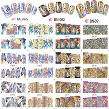 12 Pcs/Lot 2017 New Watermark Nail Sticker Water Decals Tattoos DIY Full Cover Wraps Tools Animal Tiger/Lion/Zebra