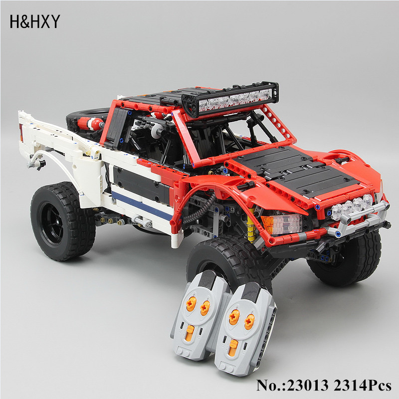 H&HXY 23013 Genuine Technic 2314 Pcs MOC Series SUV car Pickup truck bricks lepin model building kits blocks toys for boys gift pop king steerer transport cruiser suv technic truck model building blocks racing car bricks toys for children compatible lepin