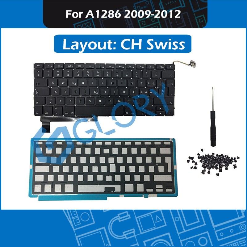 2009 2012 A1286 Keyboard CH Swiss Layout for font b Macbook b font Pro 15 A1286