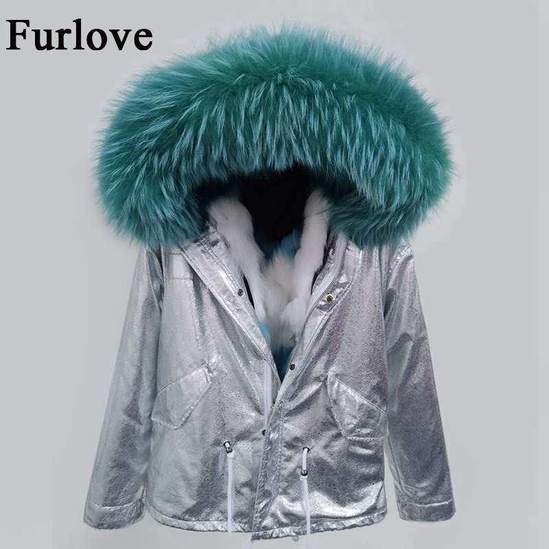 Winter Jacket Women Parka Silver Coat True Raccoon Fur Collar Thick Warm Hooded Jackets Brand Real Fox Fur Lining Casual Parkas 2017 winter new clothes to overcome the coat of women in the long reed rabbit hair fur fur coat fox raccoon fur collar