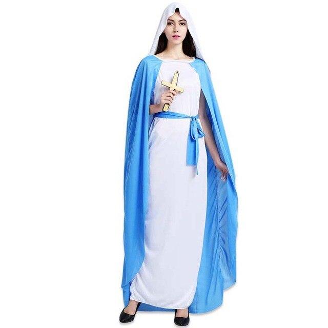160d5ce80 Drama de Roupas Das Mulheres dos homens de Jesus Missionário Costume Adult  Halloween Fantasias de Carnaval
