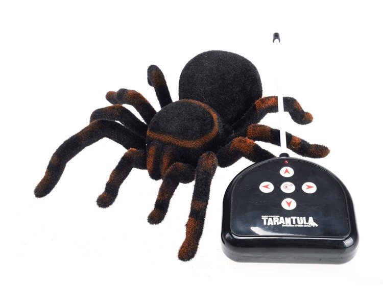 New Arrival Infrared RC Tarantula Realistic Spider with Lighting Remote Control Simulation Scary Toys Electronic Pets