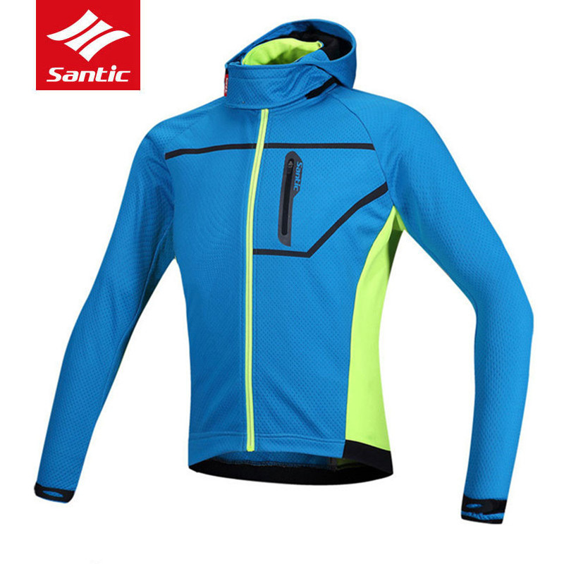 SANTIC Men's Thermal mtb Cycling Jacket Composite Carbon Fiber Windproof Waterproof cycle Bike Jersey Sports Windbreaker santic sky cycling small raincoat windproof light jacket long sleeve cycling jersey men bike ropa ciclismo jacket m5c07014h