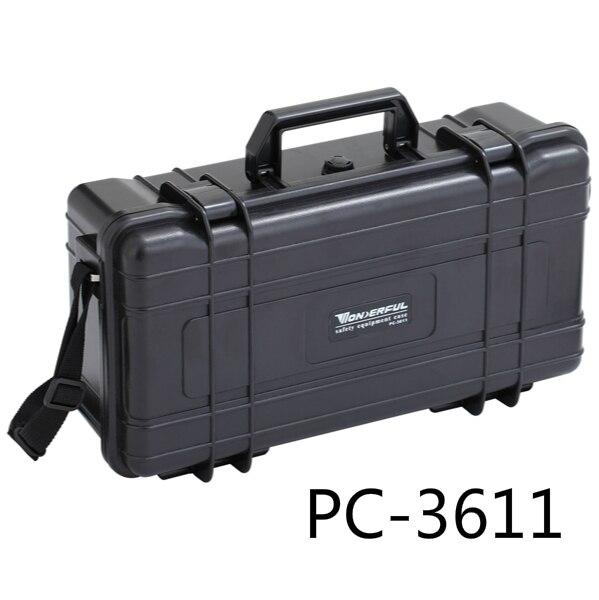 0,75kg 353*196*108mm Abs Kunststoff Wasserdicht Versiegelt Sicherheitsausrüstung Fall Tragbare Tool Box Trockenschrank Outdoor-ausrüstung
