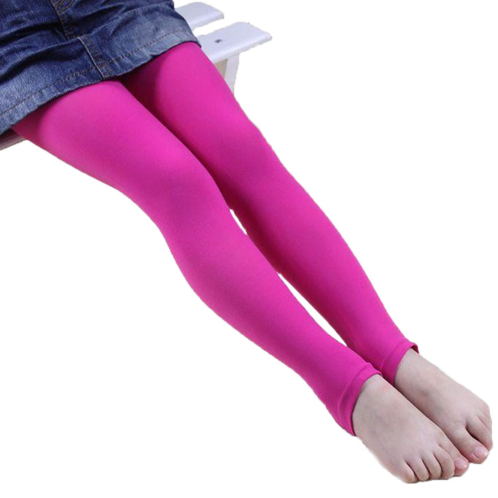CN Free Shipping Thin Section Velvet 11 Colors Child 4-8 Years Old Girls Dancing Leggings Girl Pants