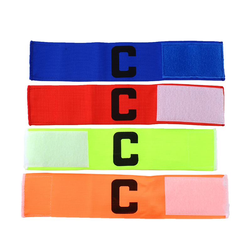 NEW Football Soccer Flexible Sports Adjustable Player Bands Fluorescent Captain Armband Colorful