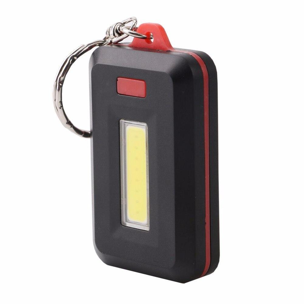 Mini COB LED Keychain Flashlight Key Chain Portable Keyring Flash Light Lamp Torch Pocket Emergency Light Torch 3 Modes