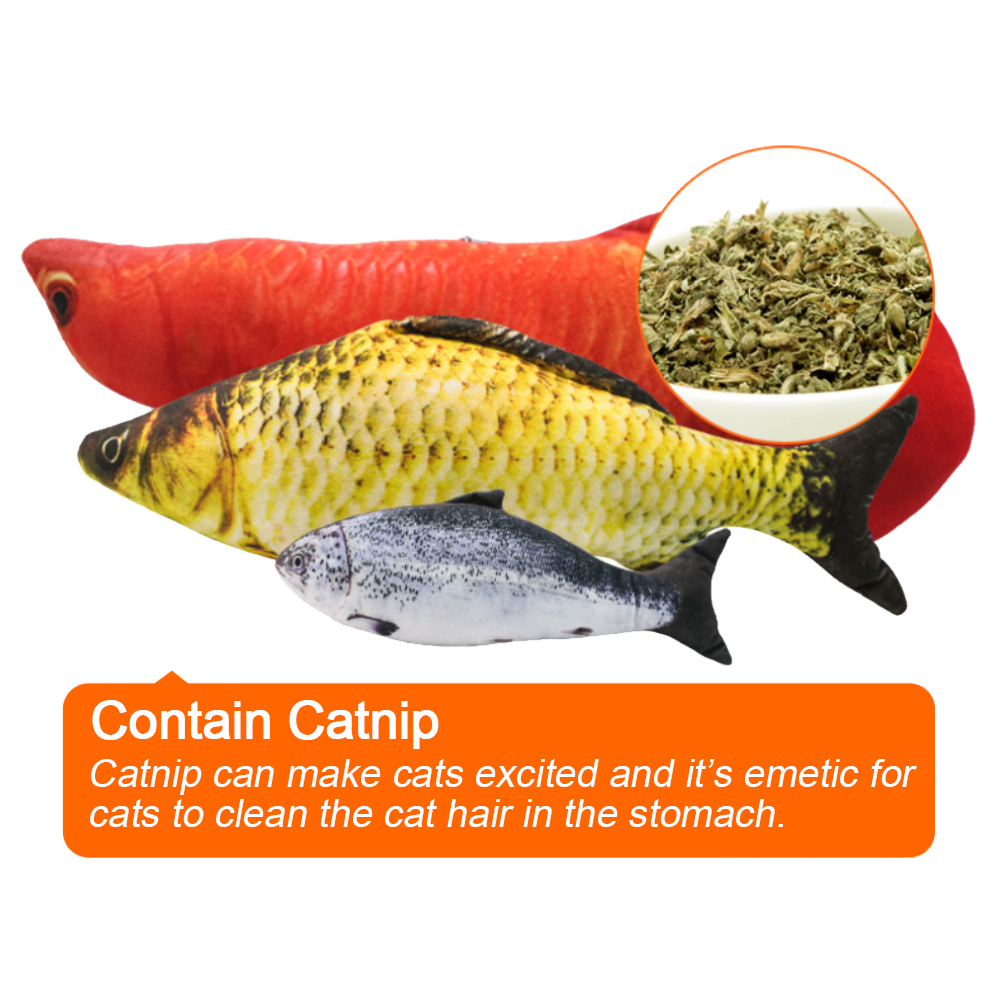 7 Style Catnip Toys for Cat Cats Fish Pet Toys For Kitten Cushion Grass Bite Chew