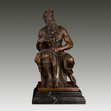 Christmas Promotion sales Greek mythology bronze Moses statue sculpture signed by Michel Angelo present CZS-001