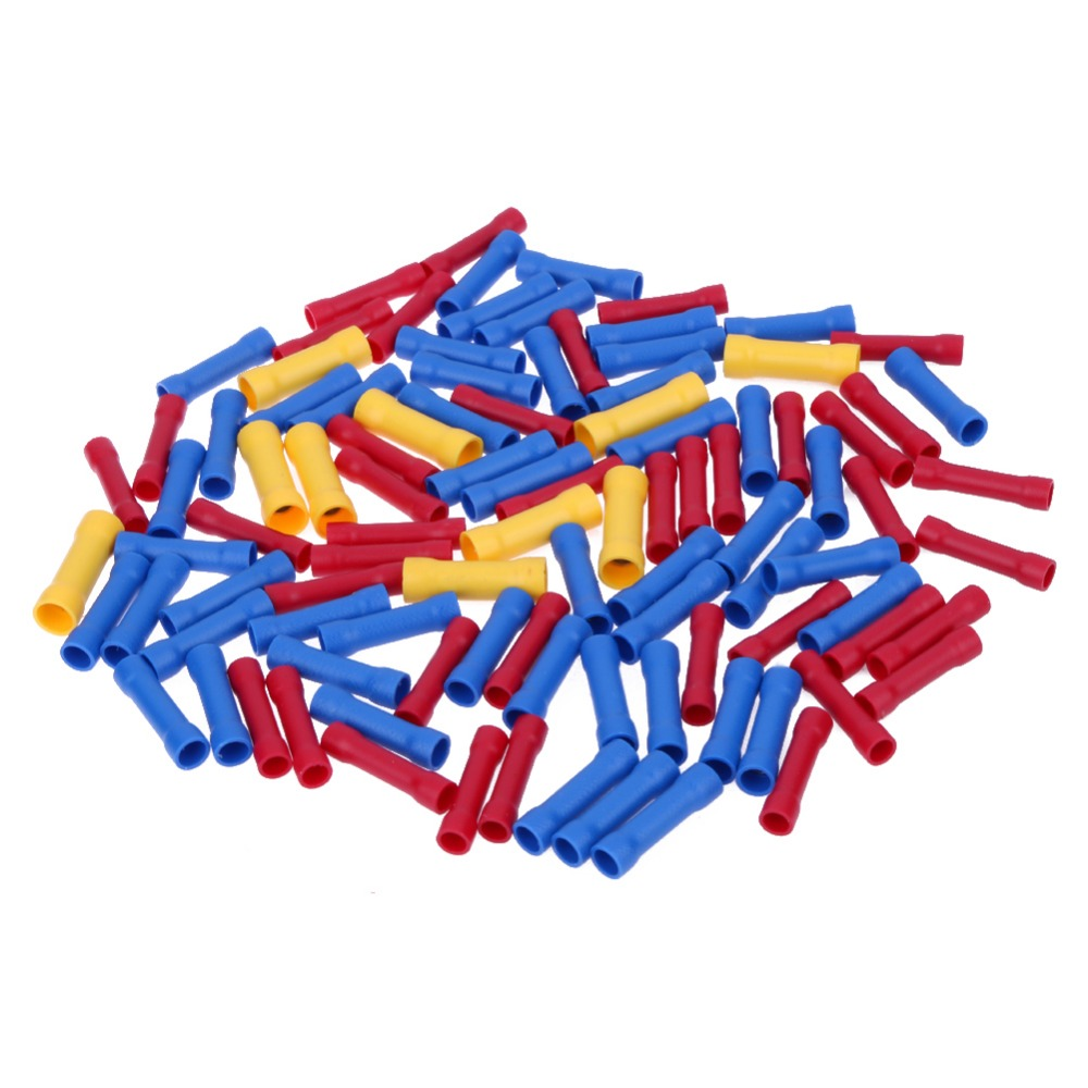 100x Insulated Red Blue Yellow Terminals Splice Connector Crimp Electrical