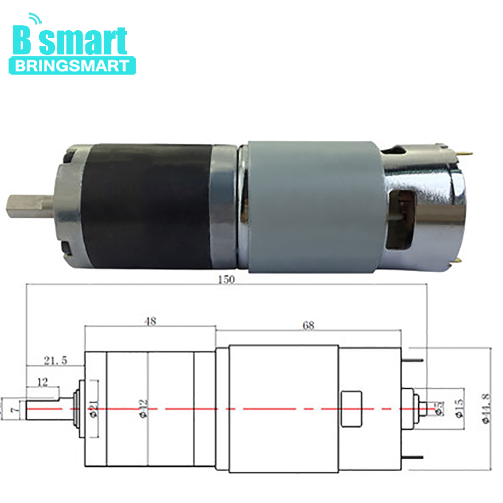 BringSmart PG42-775 High Torque Precision Planetary Gear Motor With 42 Reducer dc motor with planetary gear box 24vBringSmart PG42-775 High Torque Precision Planetary Gear Motor With 42 Reducer dc motor with planetary gear box 24v