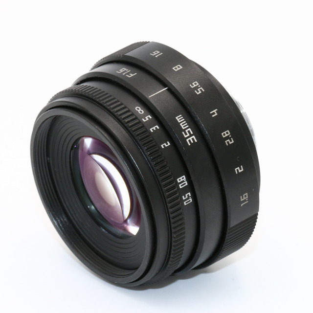 NEW Fujian 35mm F1.6 CCTV TV II Movie lens + C Mount for Canon EOS M  Mirrorless camera 4