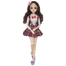 New College Style Clothes 60cm BJD Doll with Accessories 21 Movable Jointed Dolls Fashion Dress Toys for Girls Gift