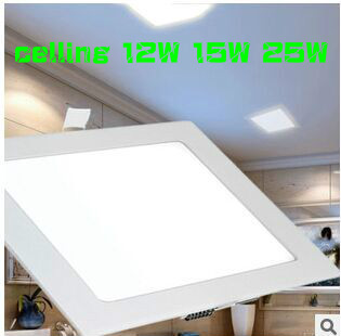 CE RoHS Square Led Panel Light celling SMD 2835 9W 12W 15W 25W 110-240V Led indoor Ceiling Recessed downlight led down lighting