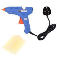 60W Professional Industrial Electric Hot Glue Gun Hot Melt Glue Machine with 20pcs Glue Sticks Heating Craft Repair Tool