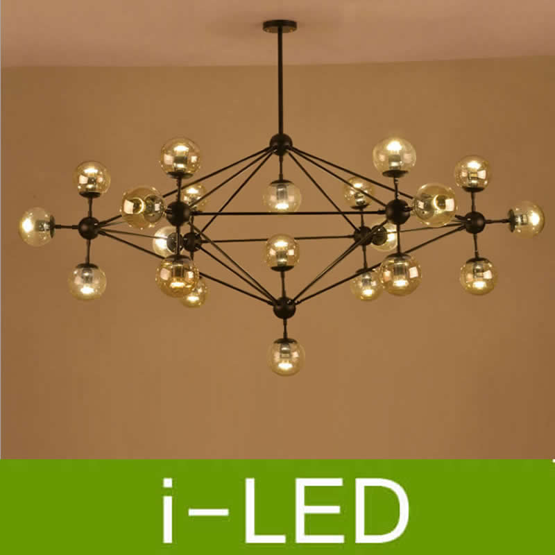Ceiling Lights & Fans Punctual Vintage Glass Chandeliers Droplight Jason Miller Modo Chandelier 5/10/15/21-heads Dining Room Pendant Lamp Industry Lighting Spare No Cost At Any Cost Lights & Lighting
