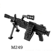 M249 Heavy machine gun weapons original toy swat police military weapons accessories Compatible lepin Minifigures