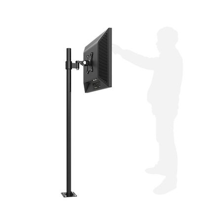 Customized Floor Mount LCD Monitor Holder Floor Stand TV Mount Mini Projector Mount LD201B for Height 100cm 150cm