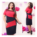 L-6XL Large big sizes vestidos lace women dress  Casual Women Patchwork dresses plus size women clothing Knee-Length dress