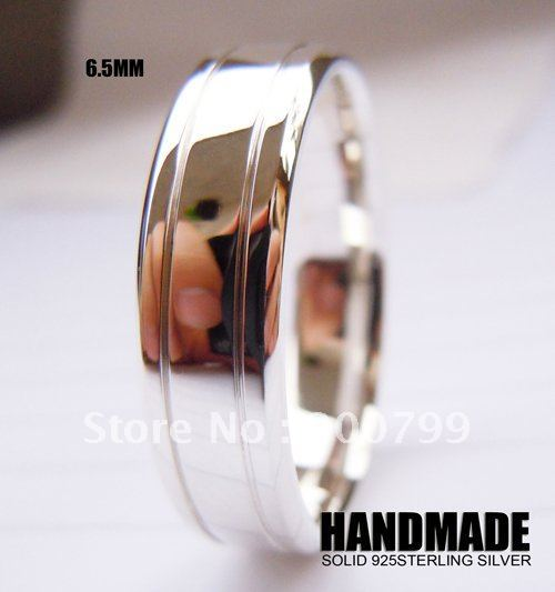Wellmade Solid 925 Sterling Silver 6.5mm Wedding Ring