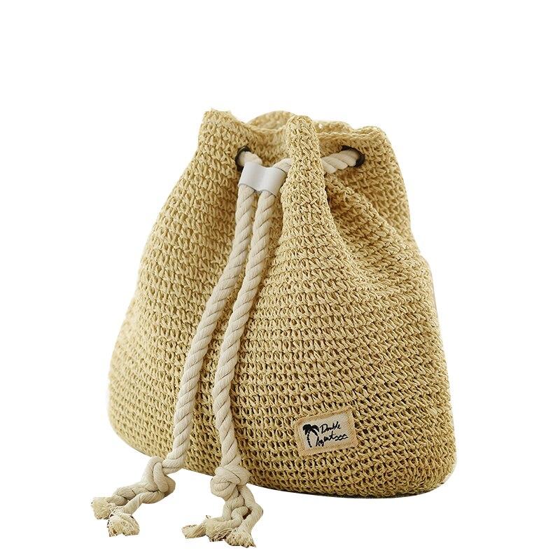 Nuevo Cordón de la manera crochet Straw Beach Bolsas verano mujeres ...