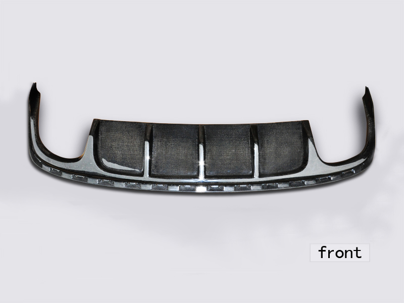 For VW Volkswagen CC Rear Lower Bumper Lip Spoiler Carbon Fiber [QP426]