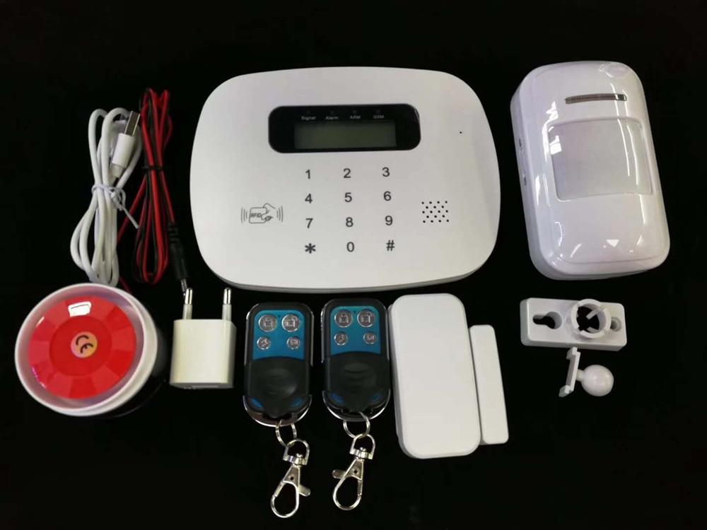 LCD PIR Sensor GSM Autodial House Office Burglar Intruder Alarm System App Remote Control