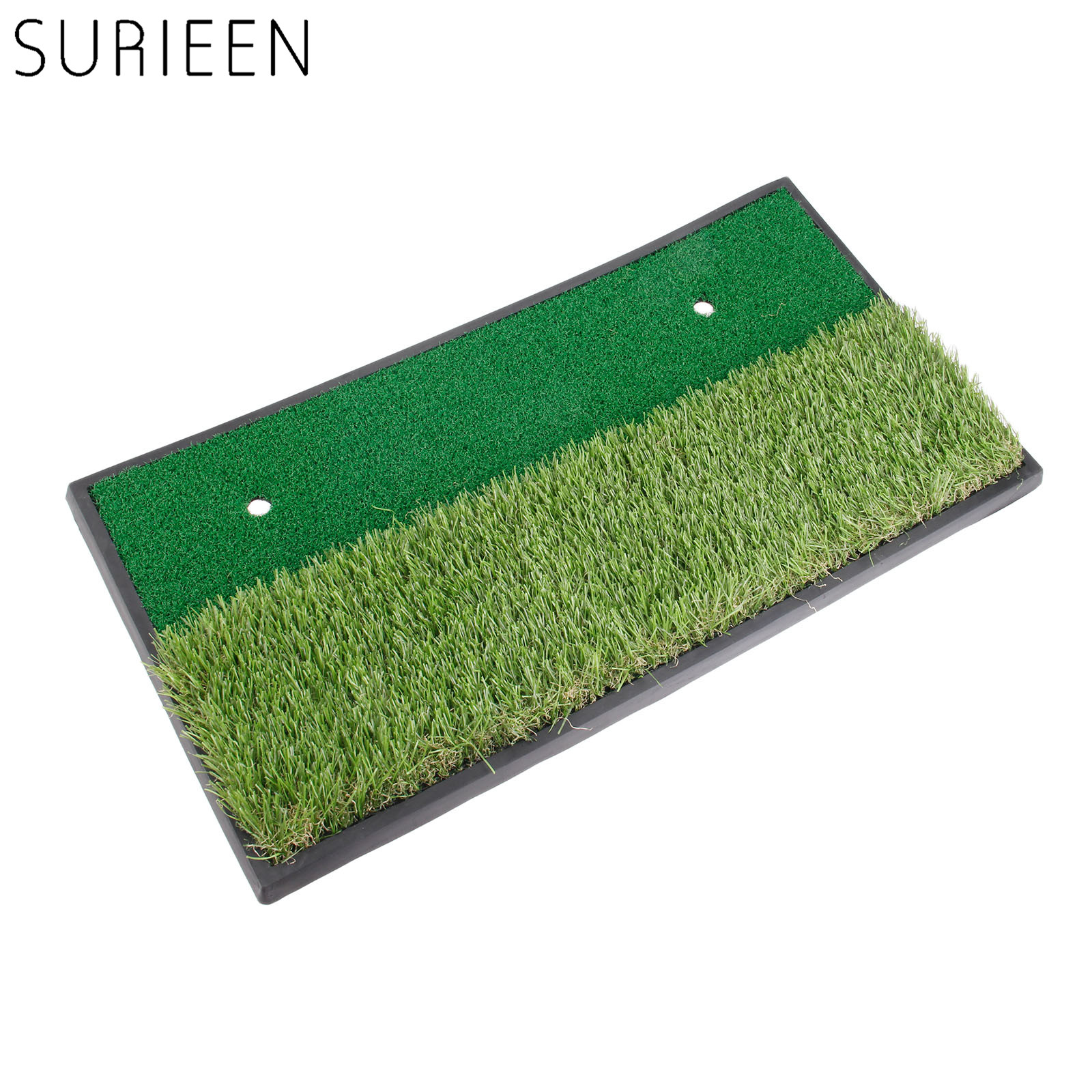 цена на SURIEEN 1pc Backyard Golf Mat 60x30cm Indoor Training Hitting Pad Practice Rubber Tee Holder Eco-friendly Green Golf Hitting Mat