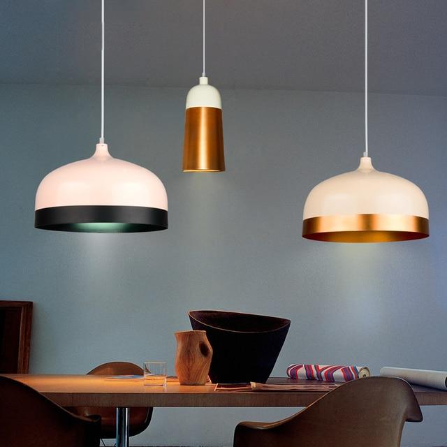 Nordic 1 pcs Aluminum Bar Light 2017 new Kitchen metal Pendant lights Indoor Home Lighting E27 LED showcase Cafe Bar light Lampe