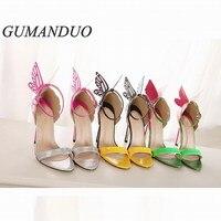 Nouveau style femmes de pompes haute talons chaussures À Lacets Boucle Stylets sexy à talons hauts sandales dames populaires européennes celebrity chaussures