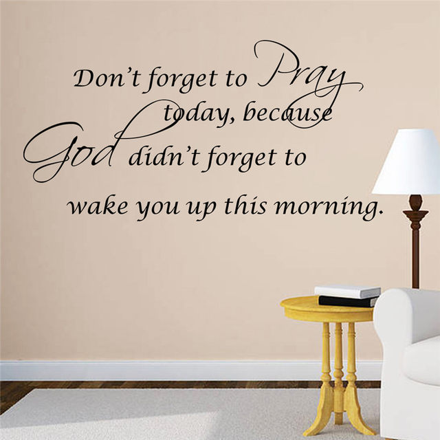 Online Shop Pray Bible quote Christian Home God Bless wall decals ...