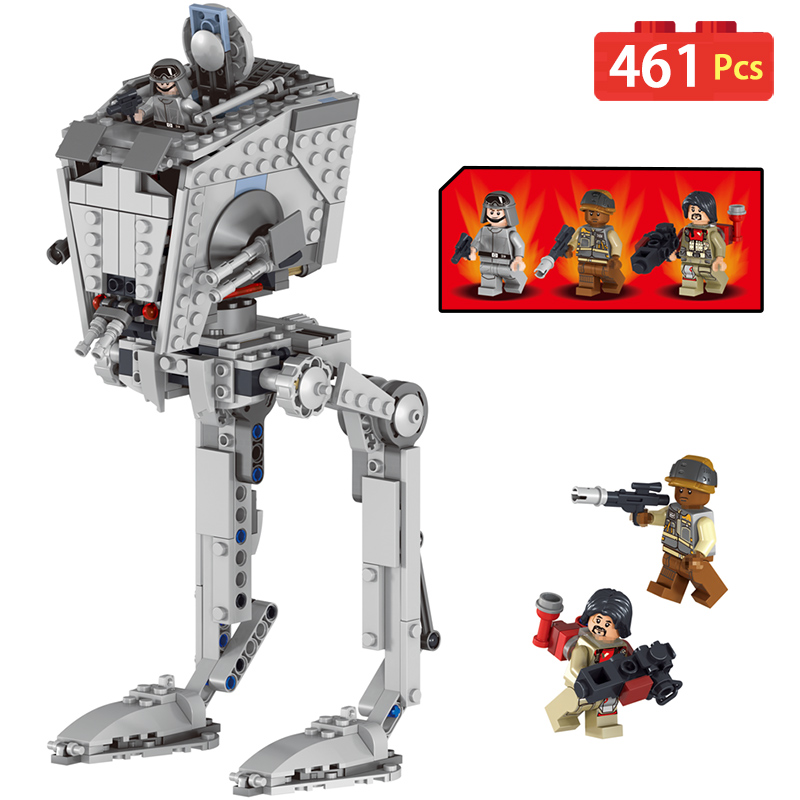 New Technic Blocks Compatible legoINGly Star Wars Imperial Mailackers 05066 AT-ST Walker Bricks Set Toys For Children Gifts конструктор lepin star plan разведывательный транспортный шагоход at st 458 дет 05066