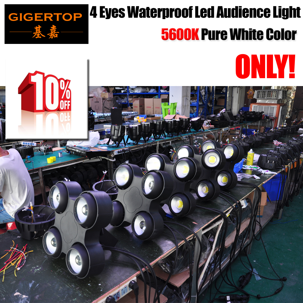 Gigertop Disount Sales 150 Units 4 x 100W 5600K Pure White Color Waterproof Led Audience Light 4IN1/6IN1 Flightcase OptionalGigertop Disount Sales 150 Units 4 x 100W 5600K Pure White Color Waterproof Led Audience Light 4IN1/6IN1 Flightcase Optional