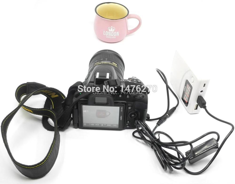 Cable USB de alimentación cámara LP-E12 ACK-E12 DR-E12 DC acoplador Para Canon EOS-M EOS-M2