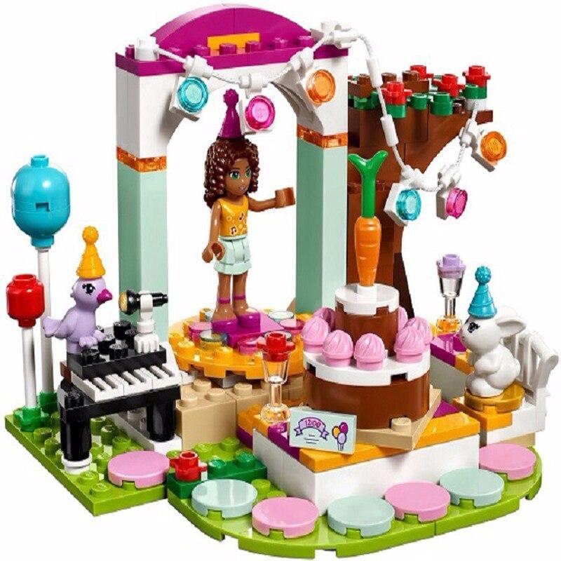 10492 LegoINGly Barátok 194db Andrea születésnapi parti építőelemek Karácsonyi ajándékok 41110 lánynak