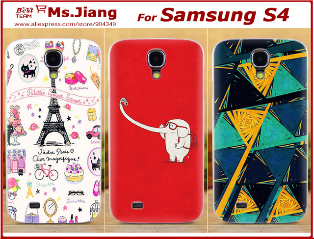 New 2014 Printed Hard Back Cover Case for Samsung Galaxy s4 i9500 Case For Samsung i9500 Cover Accessories