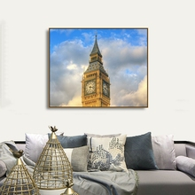 Blue Sky Cloud London Landscape Paint On Canvas For Living Room Bathroom Home Decoration Abstract Modern Wall Artwork
